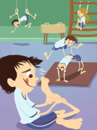 Gym enfant illustration